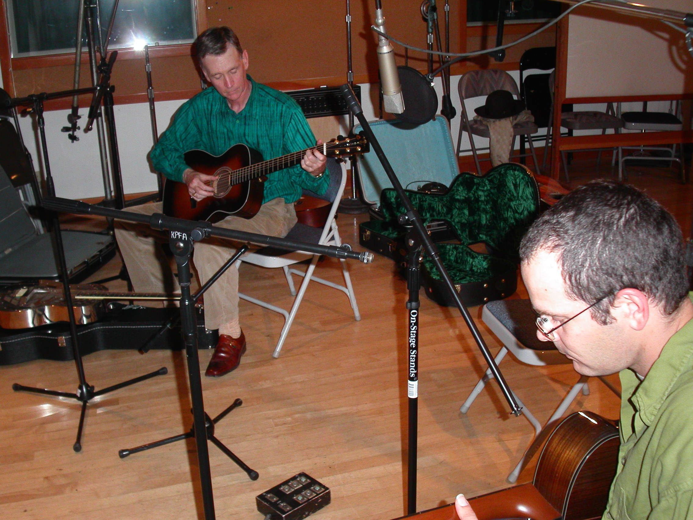 With Dale Miller at KPFA Radio, Berkeley, California
